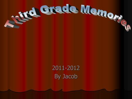 2011-2012 By Jacob. I love reading with my reading buddy.