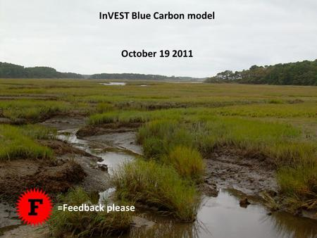 InVEST Blue Carbon model October 19 2011 F =Feedback please.