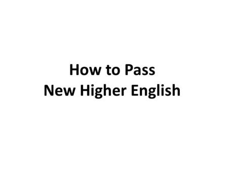 sqa higher english critical essay marking guidelines