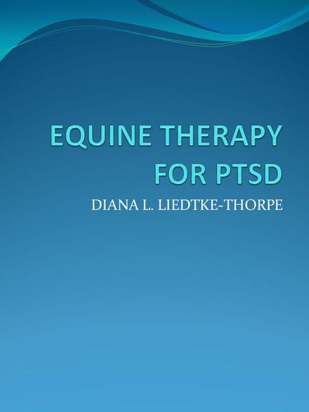 DIANA L. LIEDTKE-THORPE. PTSD DEFINITION Post-traumatic stress disorder (PTSD) is a mental health condition that's triggered by a terrifying event. NOT.