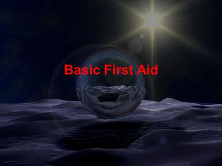 Facilities Planning & Management UW-Eau Claire Basic First Aid.