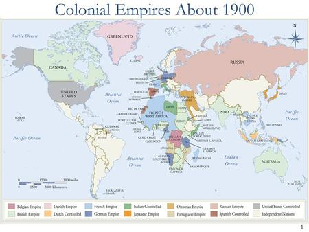 1 Colonial Empires About 1900. 2 The early 20 th century: Full-blown MODERNIS M.