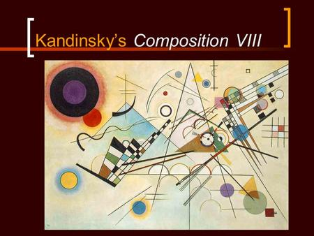 Kandinsky's Composition VIII. Is it affective without color?