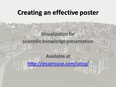 Creating an effective poster. Bring up a browser Search images for research poster Search for your discipline and poster – Eg archaeology poster What.