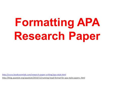 formatting a research paper microsoft word