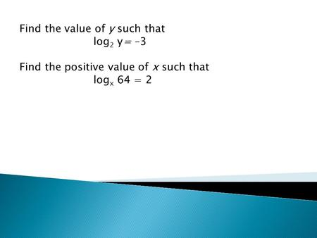 Find the value of y such that