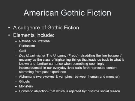 southern gothic fiction