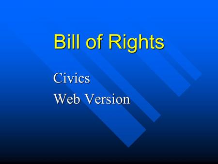 Bill of Rights Civics Web Version Background Articles of Confederation Articles of Confederation –Federal government lacked power –Shay's Rebellion a.