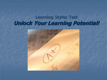 Learning Styles Test Unlock Your Learning Potential!