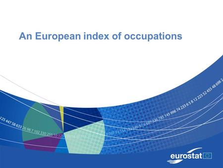 An European index of occupations. Name of the presentation Job titles Job title is the usual designation given to a person doing a specific job. There.