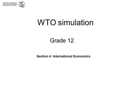 Section 4: International Economics