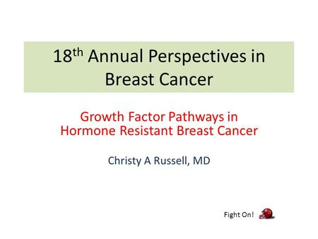 18th Annual Perspectives in Breast Cancer