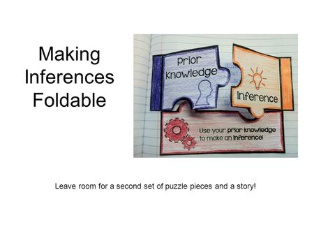 Making Inferences Foldable