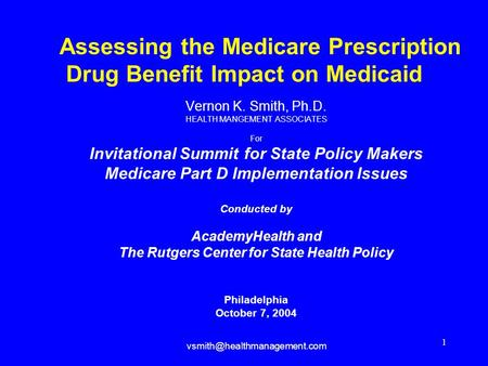 prescription drug coverage 2003 The need for medicare prescription drug coverage is indisputable by 2005 medicare beneficiaries will be spending an estimated $140 billion on prescription drugs.