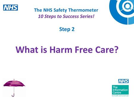 The NHS Safety Thermometer 10 Steps to Success Series! Step 2 What is Harm Free Care?