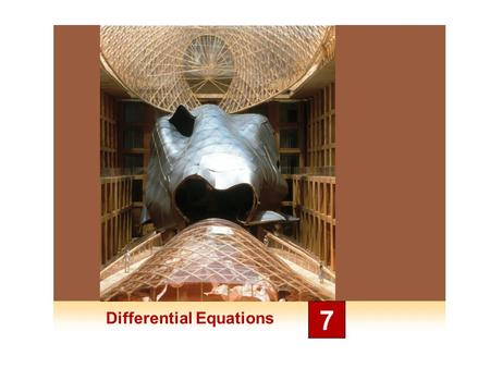 Differential Equations 7. Modeling with Differential Equations 7.1.