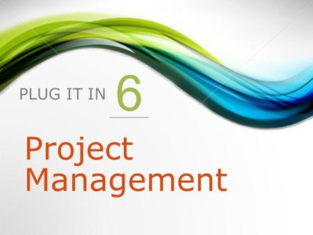 PLUG IT IN 6 Project Management. 1.Project Management for Information Systems Projects 2.The Project Management Process 3.The Project Management Body.