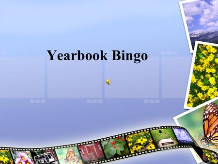 Yearbook Bingo.