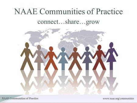NAAE Communities of Practice connect…share…grow. What is Communities of Practice? A professional networking site just for Agricultural Educators.