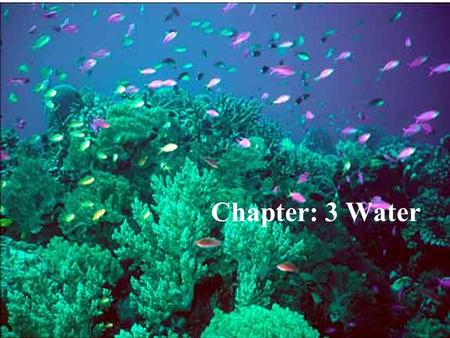 Copyright © 2005 Pearson Education, Inc. publishing as Benjamin Cummings Chapter: 3 Water.