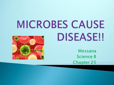 Messana Science 8 Chapter 25.  = Microorganism, Microscopic Organism  Protists  Bacteria  Virus  Parasite  Found EVERYWHERE!!...water, surface of.