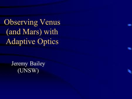 Observing Venus (and Mars) with Adaptive Optics