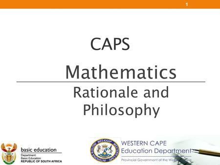 Mathematics Rationale and Philosophy