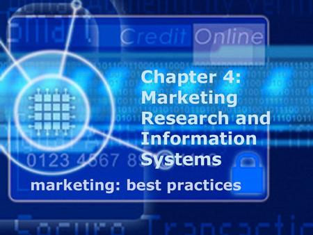 Insert Chapter Title Screen. Understand how marketing research can contribute to a firm's competitive advantage. Understand that market research includes.
