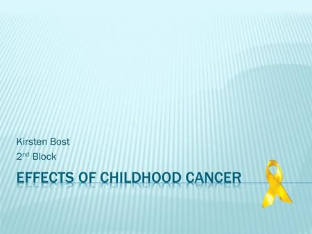 thesis statement childhood cancer
