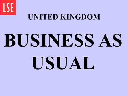 UNITED KINGDOM BUSINESS AS USUAL ARTICLE 9 ACCEPTED.