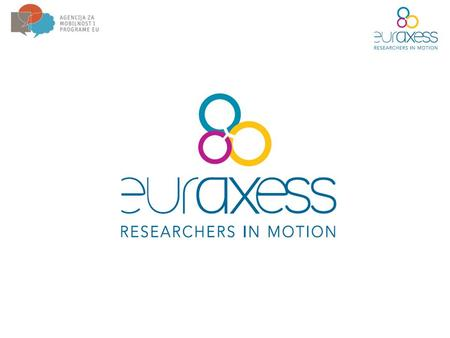 Euraxess – Researchers in motion – key initiative of European Commission for enhancing careers of researchers. Established in 2004. EURAXESS (until 1.7.2008.