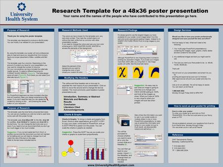 Template for a 72x42 poster presentation ppt download for Powerpoint poster templates 48x36