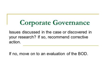 bad corporate governance cases
