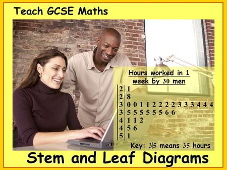 Stem and Leaf Diagrams Teach GCSE Maths. Certain images and/or photos on this presentation are the copyrighted property of JupiterImages and are being.