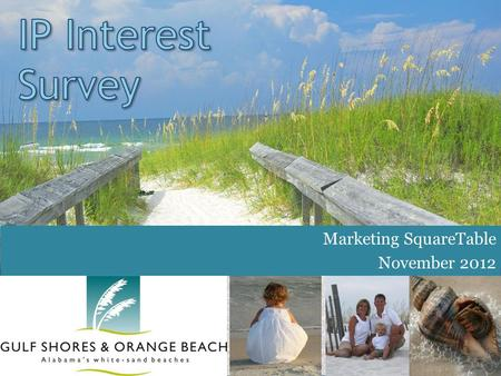 Marketing SquareTable November 2012. www.GulfShores.com and www.OrangeBeach.com How Often Read Partner Posts IP e-Newsletter Skim to find articles that.