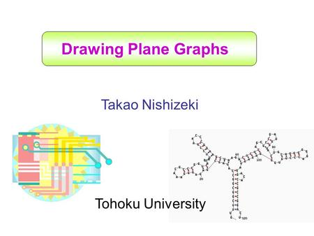 Drawing Plane Graphs Takao Nishizeki Tohoku University.