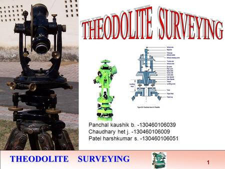 THEODOLITE SURVEYING THEODOLITE SURVEYING