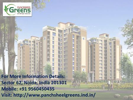  Panchsheel Greens is one of the most prestigious real estate group that provide quality construction, safety of investment and commitment.  The Project.