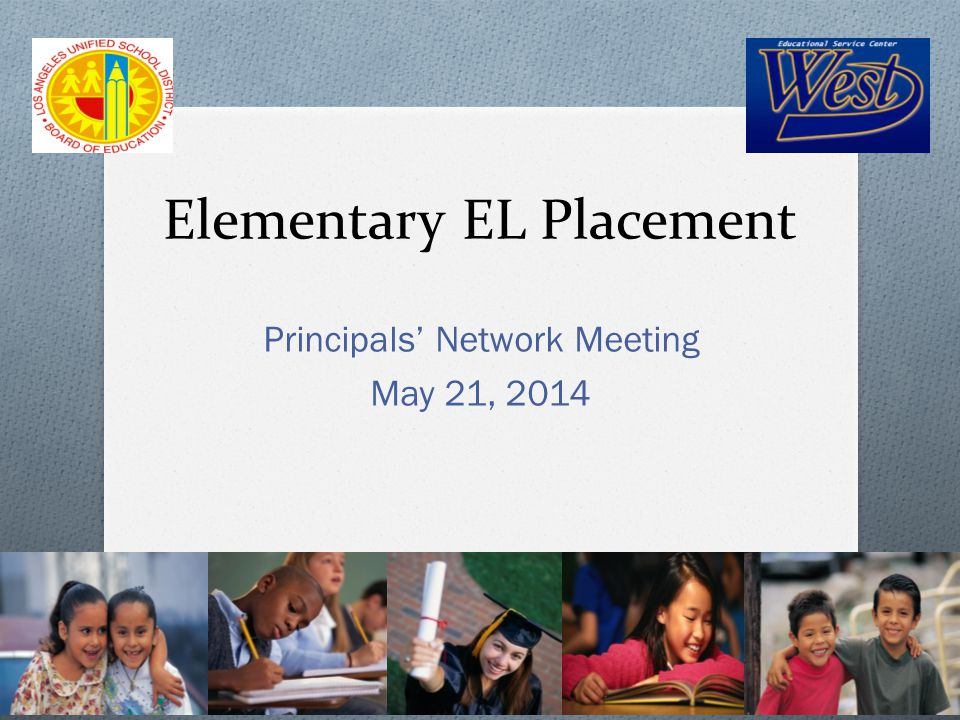 Objective O Discuss the slight shifts in the revised elementary EL Placement Policy O Discuss and complete the ELD Instructional Time Block Survey O Review Kindergarten Orientation guidelines