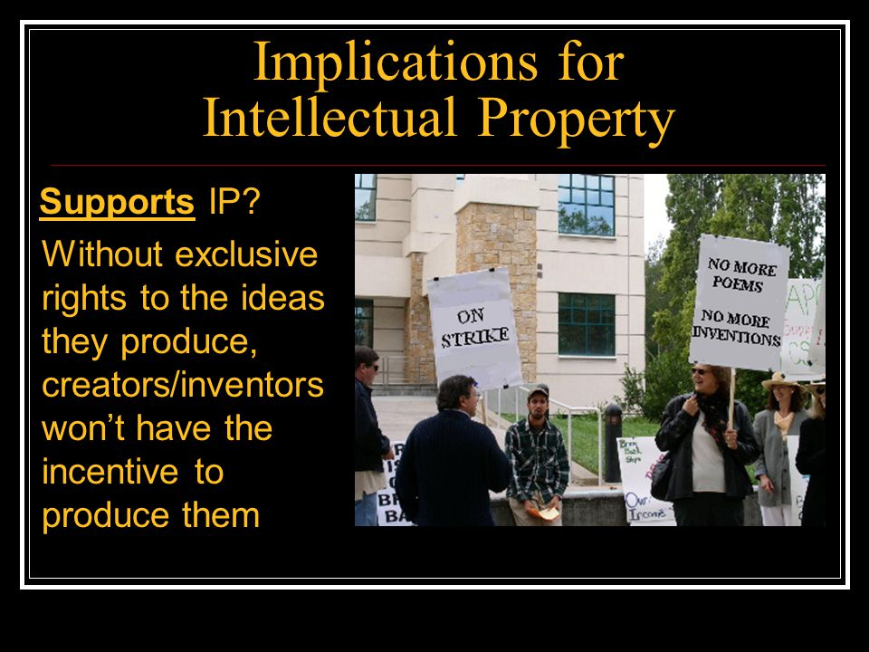 Implications for Intellectual Property Opposes IP.