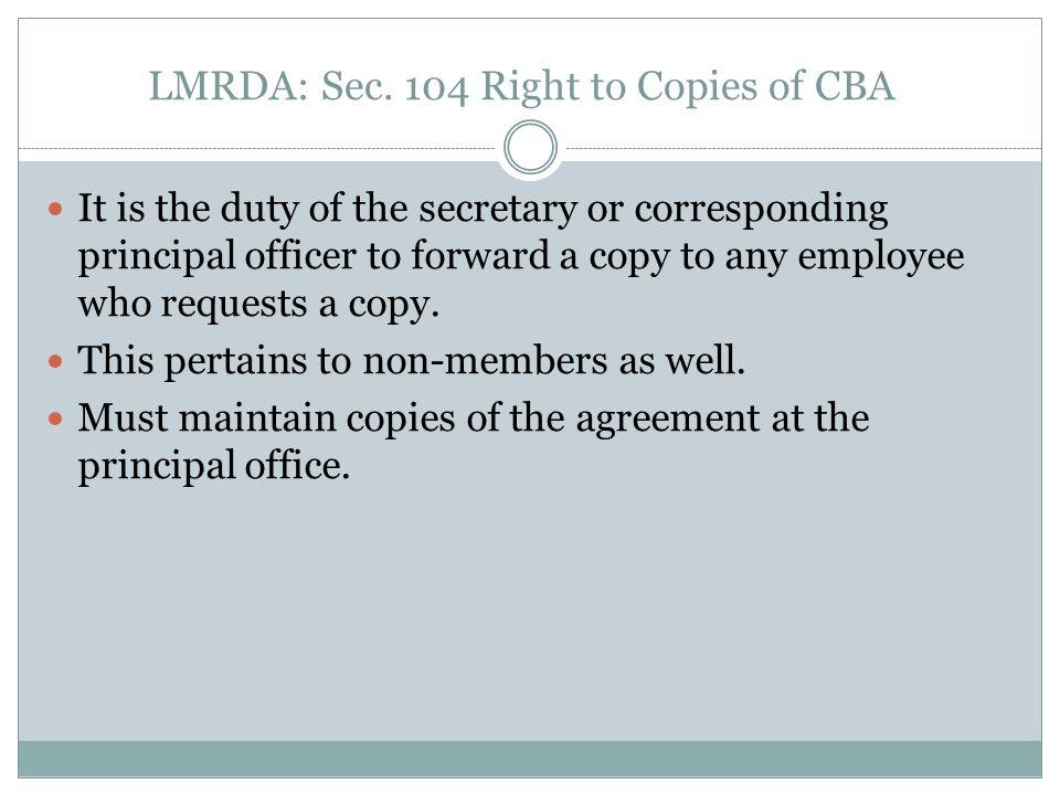 LMRDA: Report of Labor Organizations Sec.