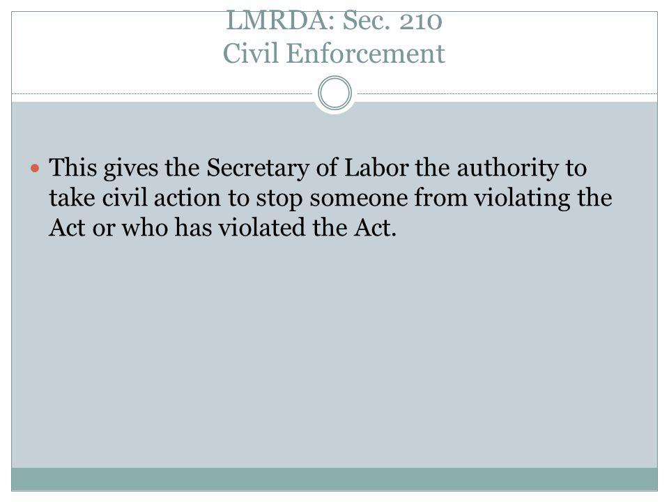 LMRDA: Sec.207 Effective Date (i.e.