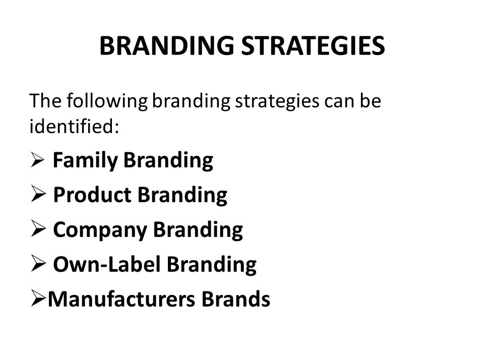 FAMILY BRANDING Family is branding is where an organization uses its strong name and reputation to launch new products under the umbrella of one of the existing brands.