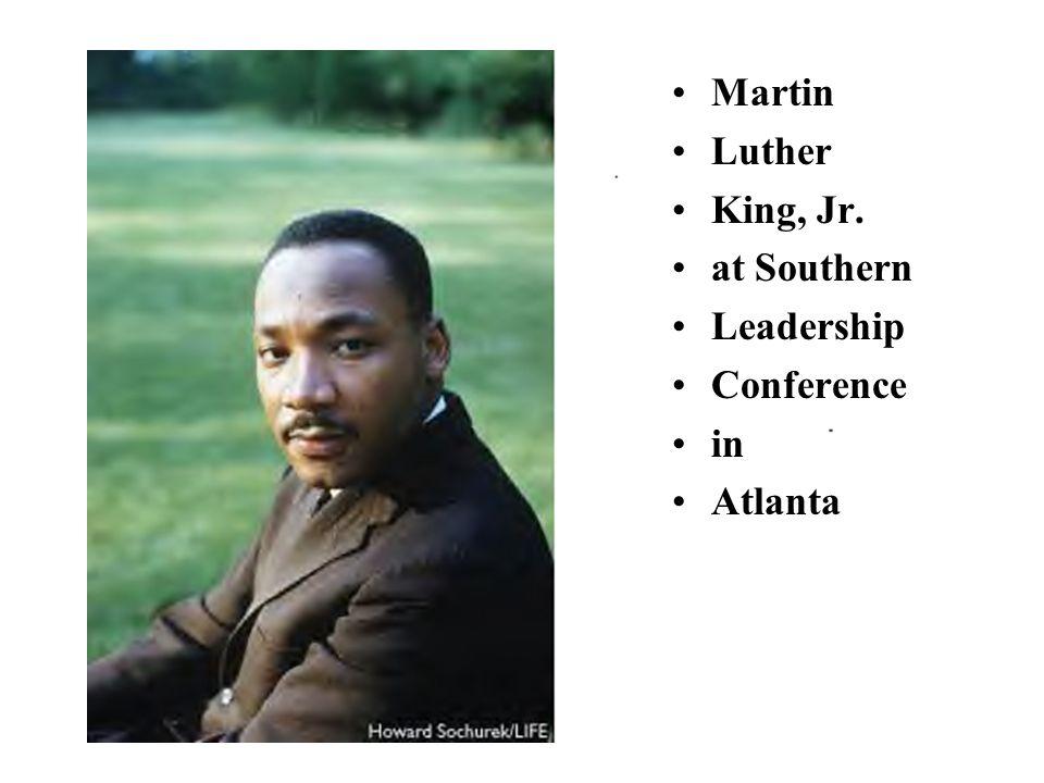 Martin Luther King, Jr. at Southern Leadership Conference in Atlanta