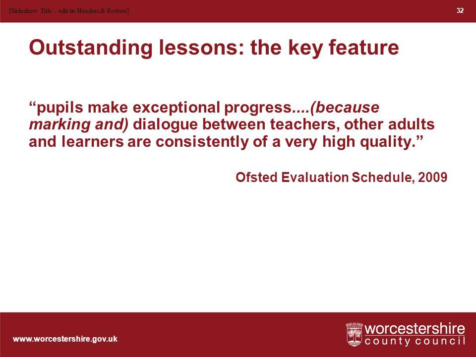www.worcestershire.gov.uk Progress in learning....