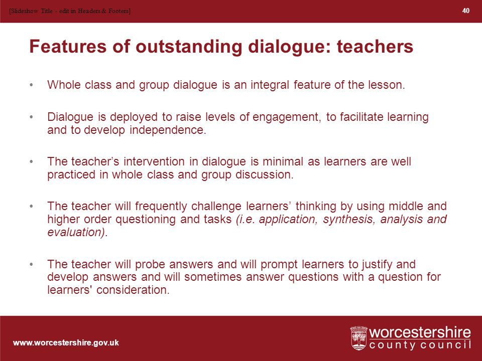 www.worcestershire.gov.uk Key questions to consider Is this a model for CPD in your own school.