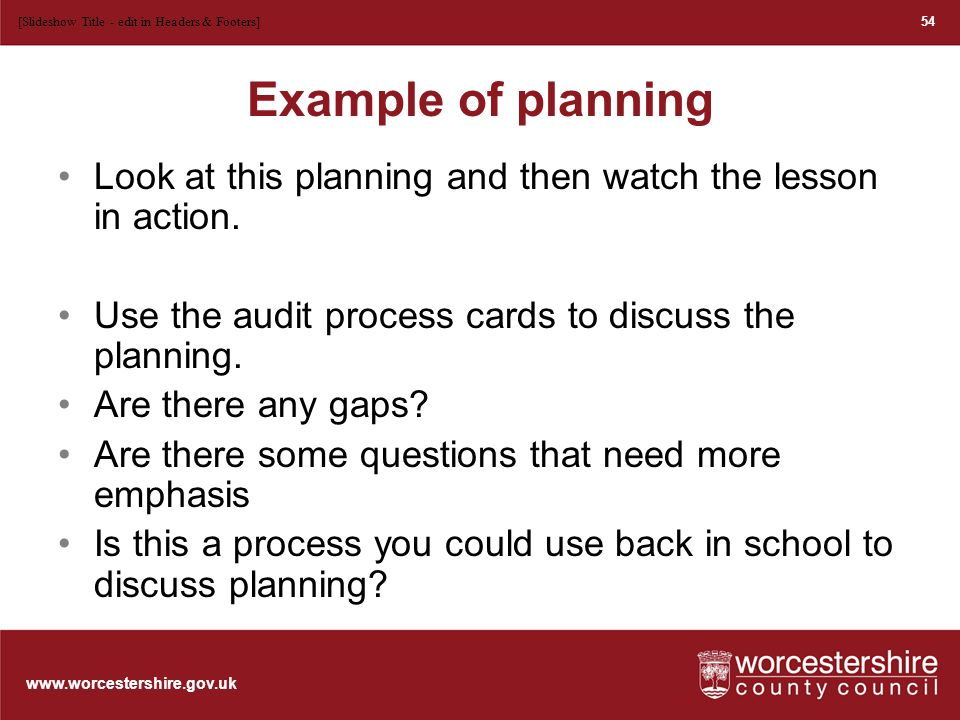 www.worcestershire.gov.uk Possible contexts….