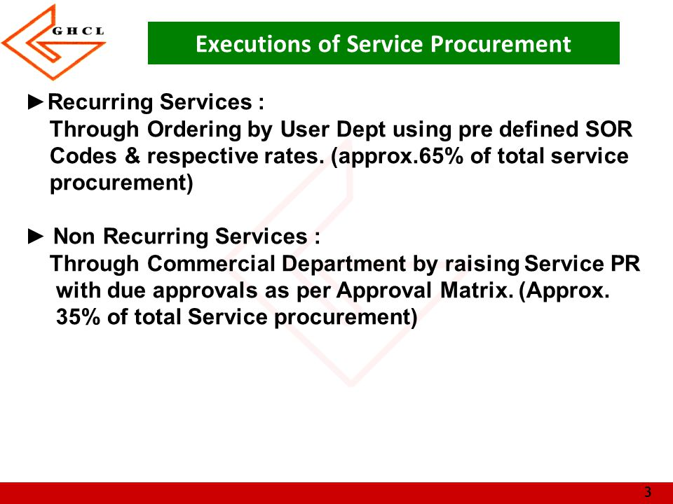4 Process Flow Service Requirement Schedule of rate (SOR) YesNo Identification of vendor PR raised by User and approved as per matrix Work Order creation by USERIdentification of vendor Work order release as per approval matrix Floating Enquiry, Getting quotation, Negotiation and Finalization.
