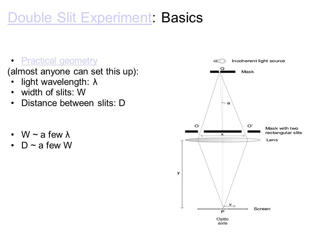Double Slit ExperimentDouble Slit Experiment: Basic Results Real result of Double Slit Experiment:Double Slit Experiment