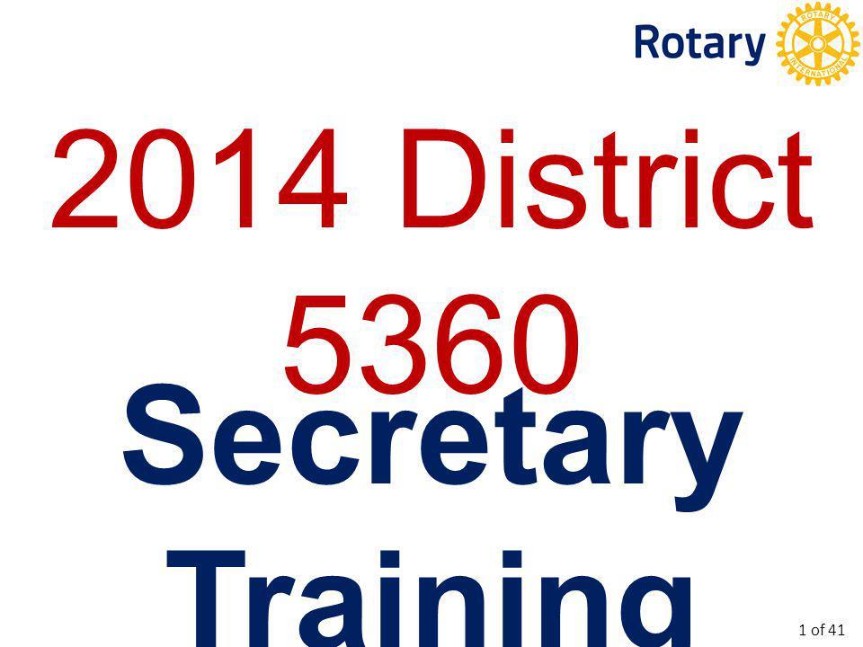 To provide training for new Club Secretaries.To update current Club Secretaries.